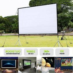 "60""/72""/84""/100""/120"" Projector Screen 16:9 4:3 Home Cinema"
