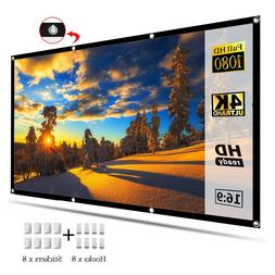 """120"""" 16:9 HD Portable Foldable Projector Screen Home Theater"""