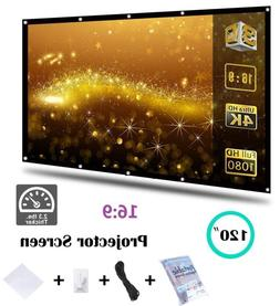 """120"""" 16:9 Pull Down Portable Projector Projection Screen Hom"""