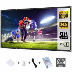 120'' 16:9 Pull Down Projector Projection Screen Home Theate