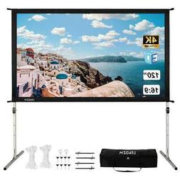 "120"" Fast Folding 4K 3D Projector Screen Stand Movie Project"