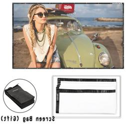 Excelvan 120 Inch 16:9 Collapsible PVC HD Projector Screen W