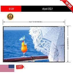 120 Inch 16:9 Collapsible PVC HD Portable Home And Outdoor U