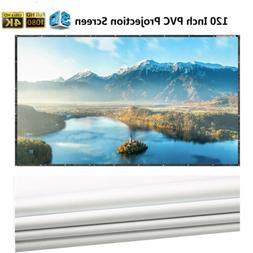 120 Inch 16:9 PVC HD Hanging Projector Screen Theater Movie