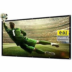120 Inch Portable Projector Screen 169 HD Foldable Lightweig