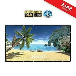 120 inch portable projector screen foldable material