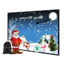 """120 inch Portable Projector Screen with Bag, GBTIGER 120"""" 16"""