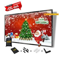 "GBTIGER 120 inch Projector Screen, 120"" 16:9 4K HD Foldable"