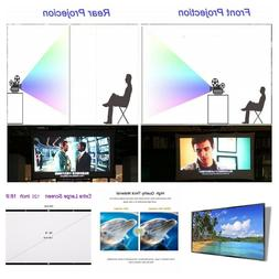 120 Inch Projector Screen HD Foldable Portable Front & Rear