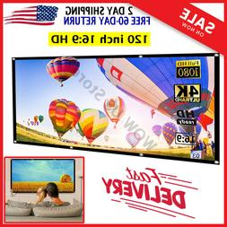 120 Inch Projector Screen Portable polyester Front Rear proj