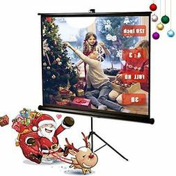 120 Inch Projector Screen with Foldable Stand Tripod Diagona