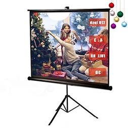 120 Inch Projector Screen with Foldable Stand Tripod, GBTIGE