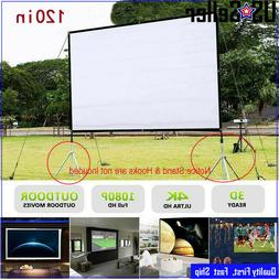 "120"" Portable Foldable Projector Screen 16:9 HD Outdoor Home"