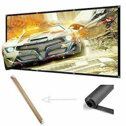120 Projector Screen 16:9 Portable Wrinkle Free 4K Projectio