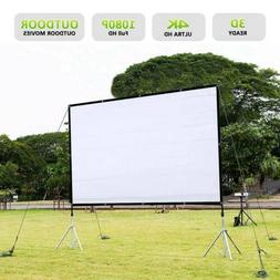 "120"" Foldable Portable Projector Screen 16:9 Rear Front Proj"