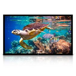 """Pyle 120"""" Projector Screen Matte White Home Theater TV Wall"""