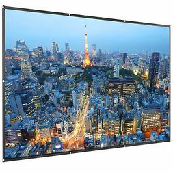 "VIVO 120"" Two Sided Foldable Anti-Crease Projector Screen"