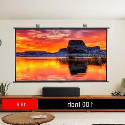 100'' Ultra Large 4K Projector Screen Portable Home Theater