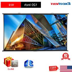 120Inch 16:9 Matte White Projector Screen Home Theater Movie
