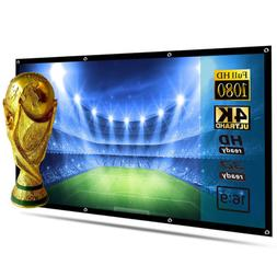120inch Portable Foldable Projector Screen 16:9 HD Home Thea