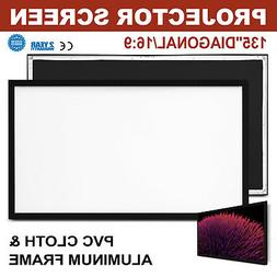 135 Inch Fixed Aluminum Frame Projector Screen Home Theatre