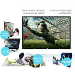 150/120/100/84/64 Inch Portable Projector Screen HD 16:9 Whi