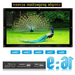 """150"""" 16:9 3D Foldable Projector Screen Home Theater Projecti"""