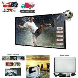 "150"" 16:9 Foldable Wall Projection Projector Screen HD 3D Mo"