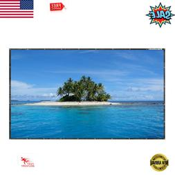 "150"" 16:9 HD Foldable Electric Projector Screen+Hanging Hole"