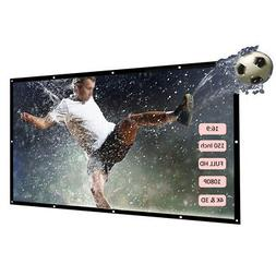 "150"" 16:9 Wall Mounted Video Projector Projection Screen Hom"
