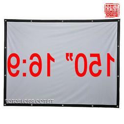 150 Inch 16:9 Outdoor Portable Fabric Projection Screens to