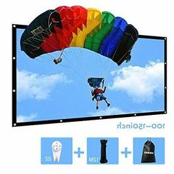 150 inch Portable Projector Screen Outdoor 16:9 Movie Screen