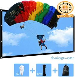 150 Inch Portable Projector Screen Outdoor Movie Screen For