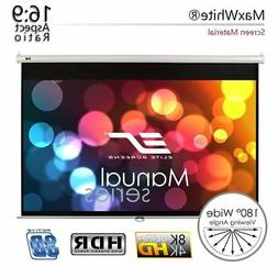 150-INCH Pull Down Manual Projector Screen AUTO LOCK Home Th