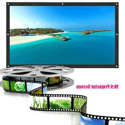 """150"""" Inch Theater Projector Screen 16:9 White Matte 3D HD Ho"""