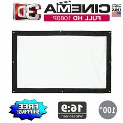 """150""""inch16:9 HD 3D Projector Screen Projection Theater For M"""