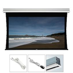 "150"" Motorized Projector Screen Ceiling Recessed White Tensi"