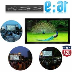 """150"""" Projector Screen 16:9 Projection HD Lightweight Manual"""