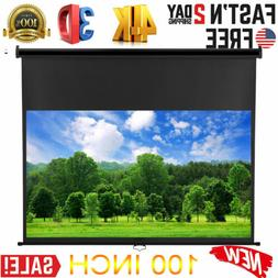 """16:9 100"""" HD 1080P Projector Projection Screen 4K 3D Home Th"""