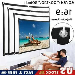"""100"""" Foldable Projector Screen 16:9 HD Outdoor Home Cinema T"""