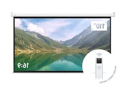 16:9 HD Electric Motorized Projector Screen With Remote Home