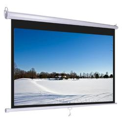"""92"""" 16:9 Pull Down Manual Projector Projection Screen Home T"""
