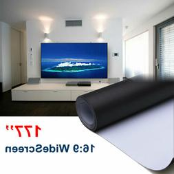 177'' Ambient Light Rejecting ALR Projector Screen Matte Whi