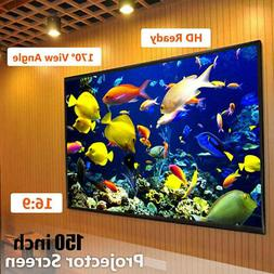 "1A08 150""inch16:9Electric Motorized HD 3D Projector Screen P"