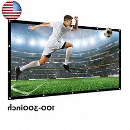 200 Inch Large Projector Screen 16:9 3D Portable Movie Scree