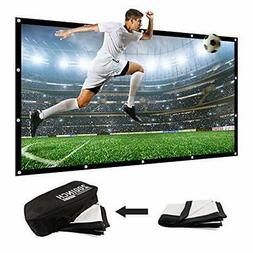 200 Inch Large Projector Screen Big 16:9 3D Portable Movie S