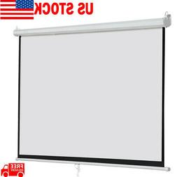 2PCS 120 Inch 16:9 Home Movie Manual Projection Screen Pull