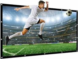 "300"" Projector Screen 16:9 Large Movies Screen Canvas Outdoo"