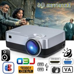 3D 1080P Full HD 5000LM LED Projector Multimedia Home Cinema