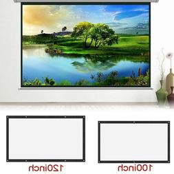 """Wall Mounted 100"""" 16:9 Home Movie Manual Projection Screen P"""